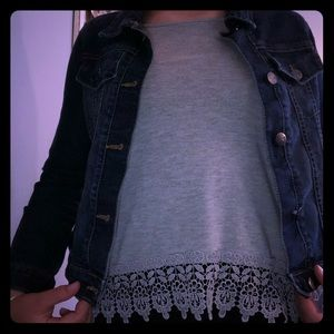 Gray Old Navy cami with details